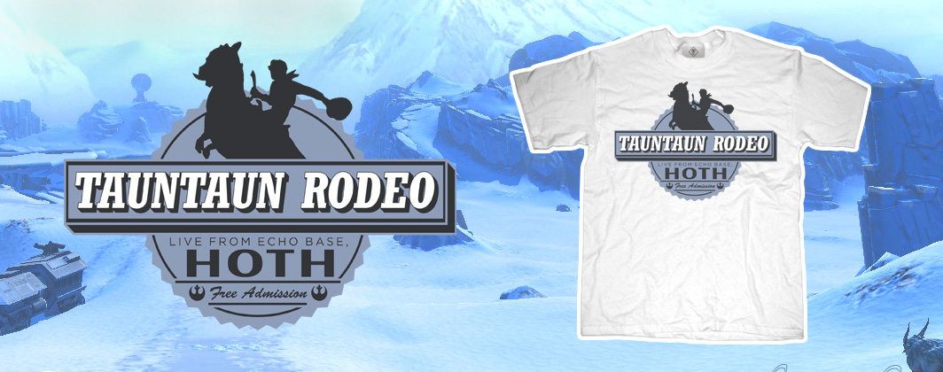tauntaun rodeo star wars tshirt