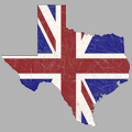 British Texas Tshirt Design