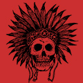 Indian Skull Tshirt Design