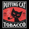 Puffing Cat Tobacco Tshirt Design