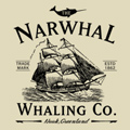 Narwhal Whaling Co Tshirt Design